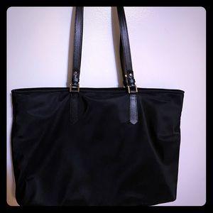 Black Kate Spade vinyl shoulder bag